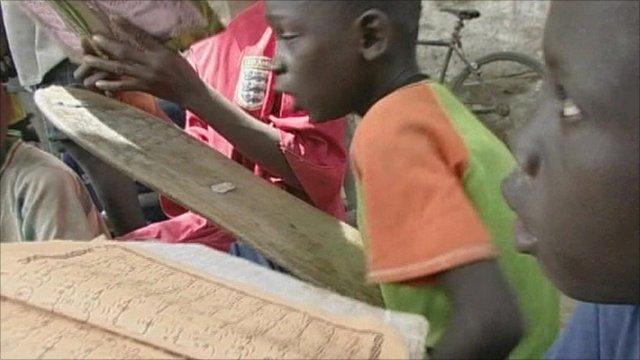Boys in a Senegalese daraa