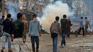 Protest in Srinagar on 14 September 2010