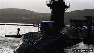 One of the UK's Vanguard submarines