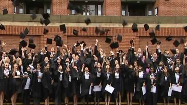 University students celebrate graduating