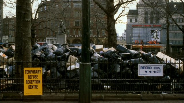 rubbish in leicester square