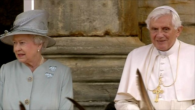The Queen and Pope Benedict XVI