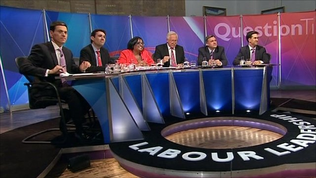 The Labour leadership candidates and David Dimbleby