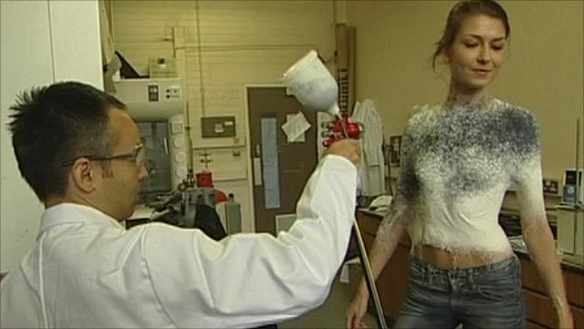 Spray On Clothing Developed By Designer And Scientists Bbc News