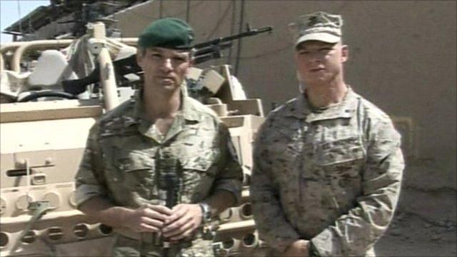 Lieutenant Colonel Paul James and Lieutenant Colonel Clay Tipton