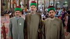 Attendants in the Imam Hussein mosque