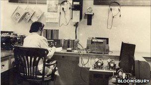 Spy listening to telephone exchanges in 1943