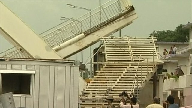New Delhi footbridge collapse