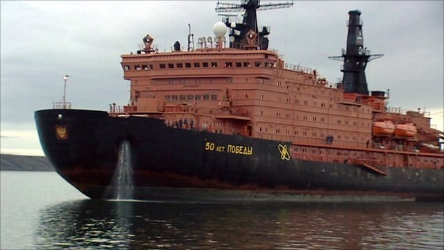 A Russian ice-breaking ship