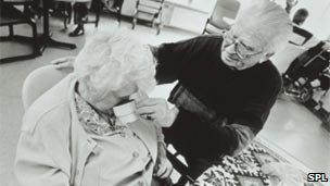 Elderly lady with dementia