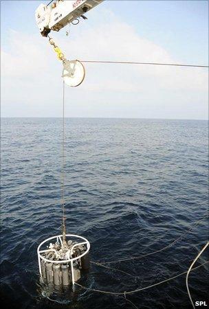 Sampling ocean