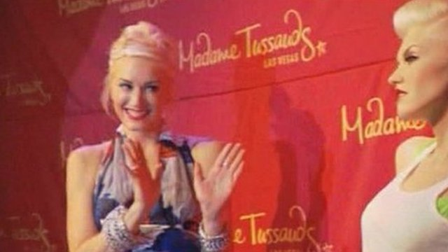 Gwen Stefani meets her waxwork