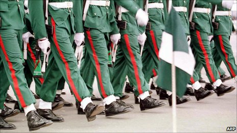 A parade in 2000 for Nigeria's independence
