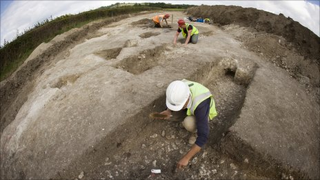 The archaeological site near Bearsted in Kent