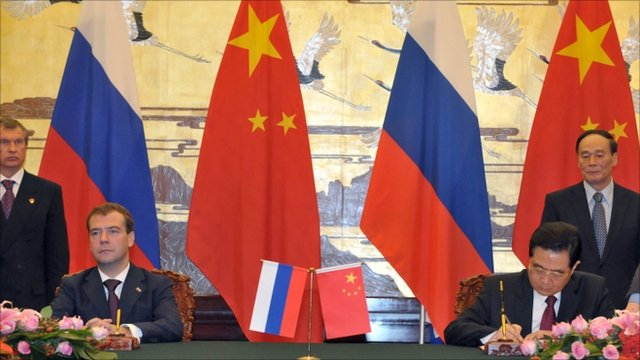 Russia And China Sign Series Of Energy Agreements Bbc News