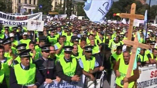 Police protesting
