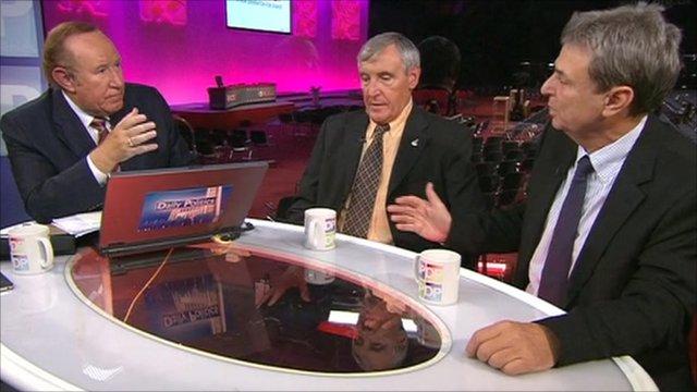 Andrew Neil, Tony Woodley and David Prentis