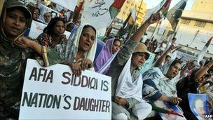 MQM supporters at rally in Karachi