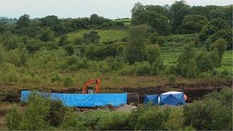 Scene where body was found