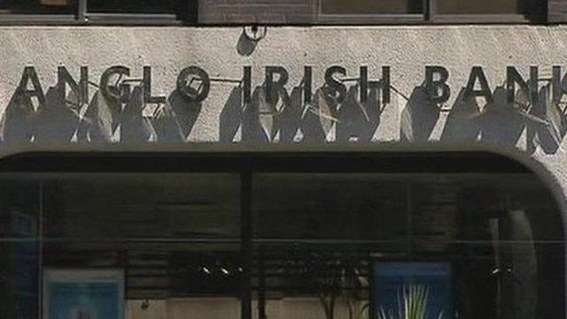 Exterior of Anglo Irish Bank
