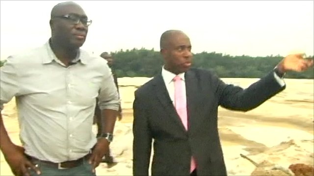 Komla Dumor and Chibuike Rotimi Amaechi, governor River State