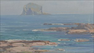 The Bass Rock by John Campbell Mitchell