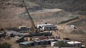 View of the drilling operation at the San Jose mine