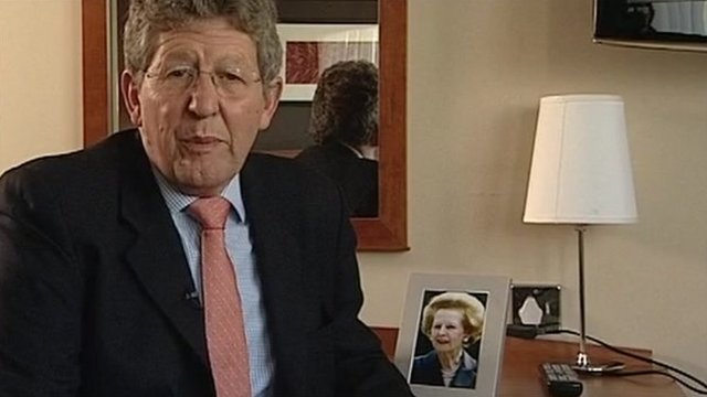 Don Foster and Margaret Thatcher picture