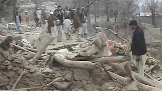 Scene of drone attack