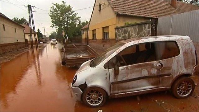 Car destroyed by toxic sludge