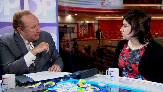 Andrew Neil and Baroness Warsi