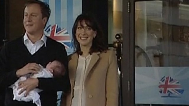 David and Samantha Cameron with daughter Florence