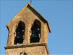 The belfry of a rural church