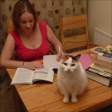 Nikki Brice and her cat