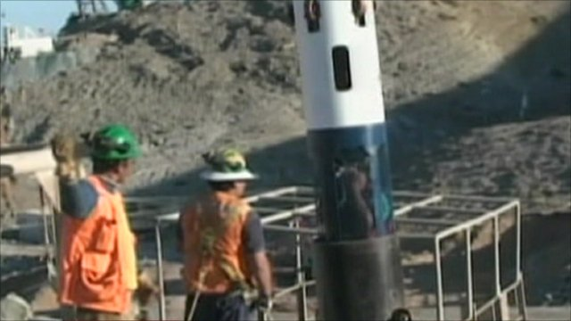 Rescue workers test capsule