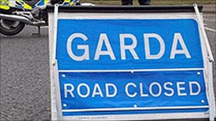 Garda accident sign