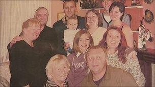 Mike Bradford's family