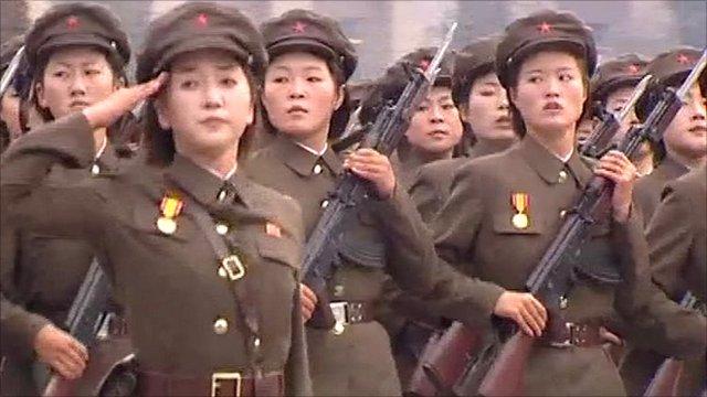 North Korean military display