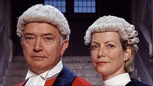 Martin Shaw and Jenny Seagrove in Judge John Deed