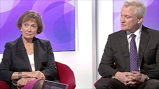 Joan Bakewell and Graham Stuart