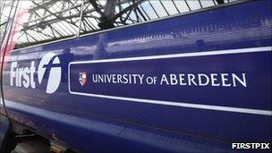 University of Aberdeen train [Pic: Firstpix]