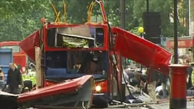Aftermath of bomb attack on 7th July 2005