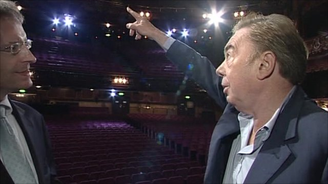 Andrew Lloyd Webber at the London Palladium