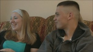Mohammed Pardesi (right) and his girlfriend Emma Williams before his arrest