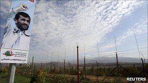 Poster near Israel Lebanon border