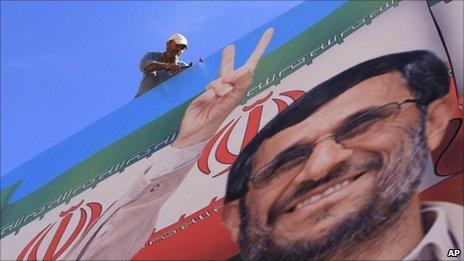 Huge billboard in Beirut