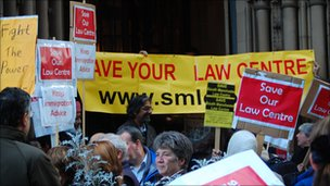 Protest outside Manchester Town Hall