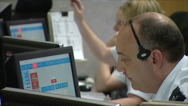 Greater Manchester Police Control Room