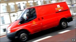 Royal Mail van in London