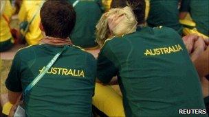 Australian athletes in Delhi